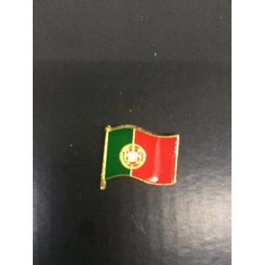 Pin de metal de bandeira portuguesa