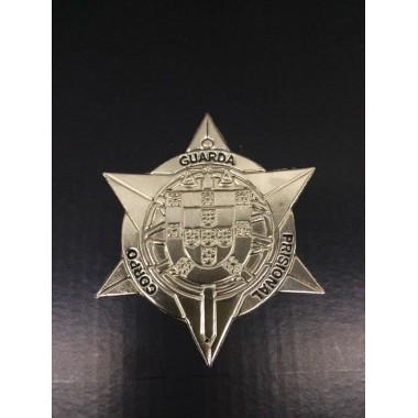 estrela em metal para carteira guarda prisional