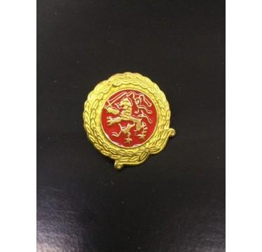 Emblema de metal redondo do exército