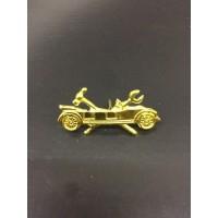 Emblema de metal exercito , carro pequeno .