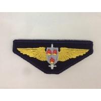 Emblema bordado com águia dos bombeiros