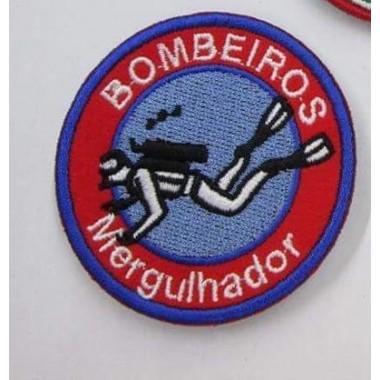 EMBLEMAS  BORDADOS BOMBEIROS  COM VELCRO MERGULHADOR
