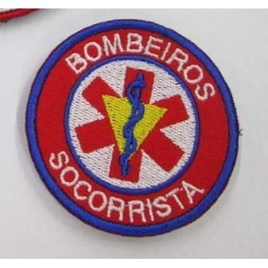 EMBLEMAS  BORDADOS BOMBEIROS COM VELCRO  SOCORRISTA