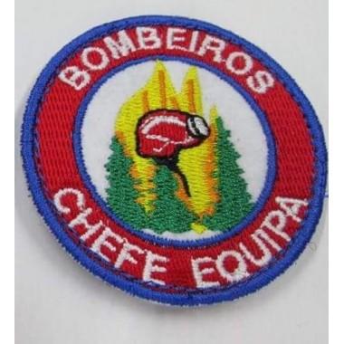 EMBLEMAS  BORDADOS BOMBEIROS COM VELCRO  CHEFE DE EQUIPA