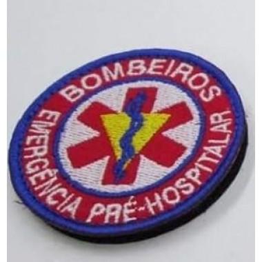 EMBLEMAS  BORDADOS BOMBEIROS COM VELCRO  EMERGÊNCIA PRÉ HOSPITALAR