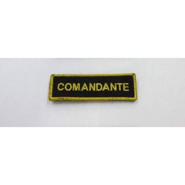 emblema comandante bordado