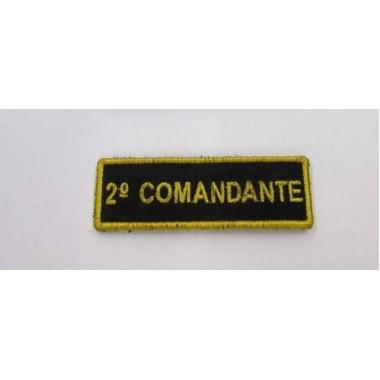 EMBLEMA 2-º COMANDANTE  BORDADO