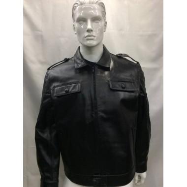casaco de bombeiro todo em pele com fecho na manga