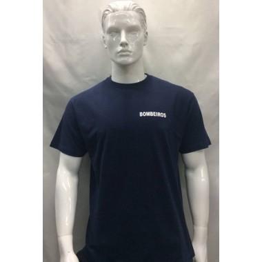 t-shirts de bombeiros azuis
