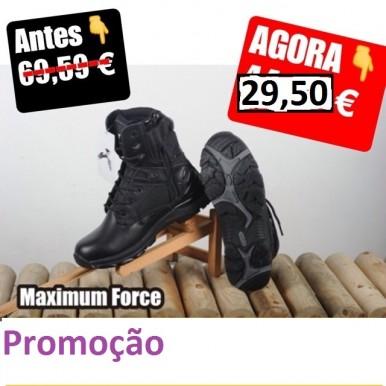 BOTAS MAXIMUM FORCE zip 083 botas taticas