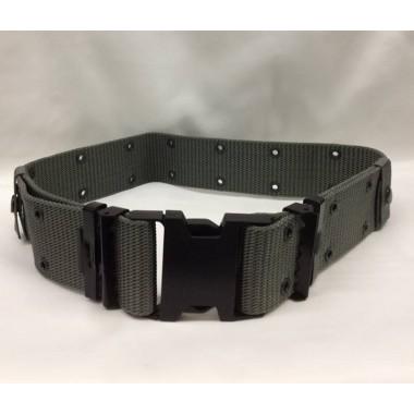 Cinturão cinzento com encaixe em carbono referência