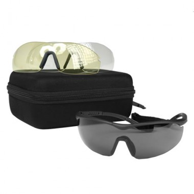 Óculos táticos com lentes intercambiáveis  ANSI EN 166