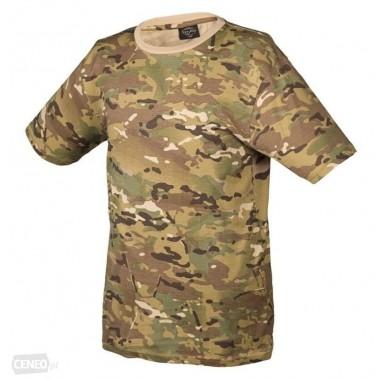 t-shirts camuflada em beje