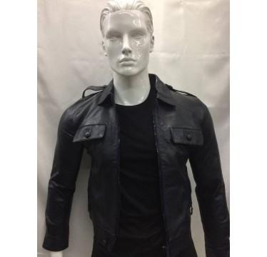 casaco de pele preto