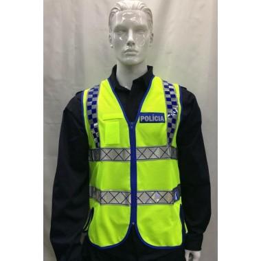 Colete reflector da polícia com fita boa