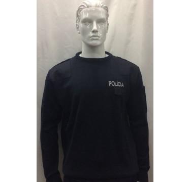 Camisola de malha da polícia para o serviço interno