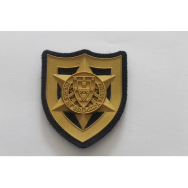 Cracha de peito em borracha com velcro  para oficiais da PSP