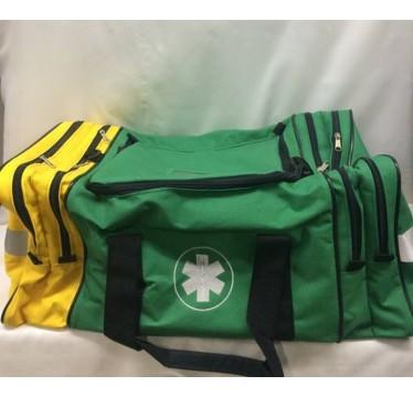 Saco 1-socorros grande de cor verde com amarelo