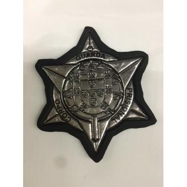 Estrela de corpo de guarda prisional de velcro prateada
